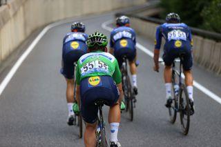 Deceuninck-Quickstep work to keep Mark Cavendish in the Tour de France