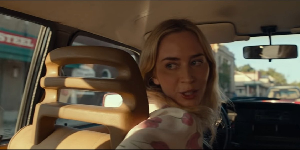 Emily Blunt driving in A Quiet Place 2