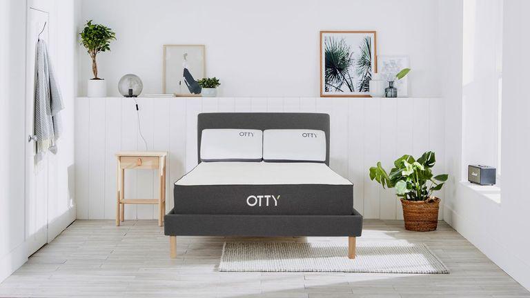 Otty mattress discount: Otty mattress in white decorated bedroom