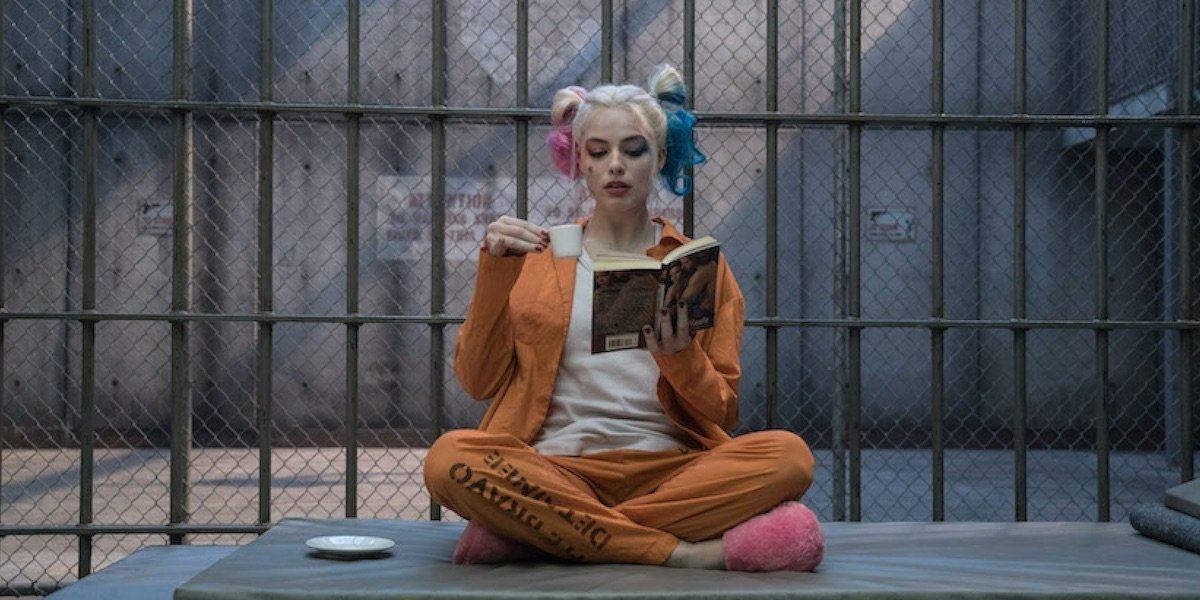 Harley in her Suicide Squad cell