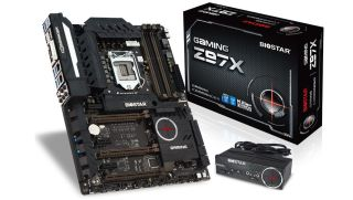 The rather exquisite Biostar Z97X motherboard.