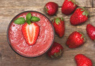 strawberry, smoothie, strawberry smoothie