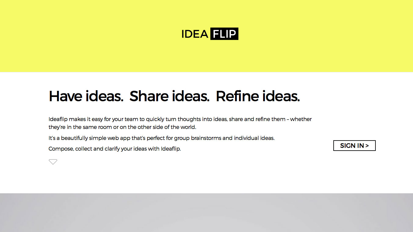 Online collaboration tools: IdeaFlip