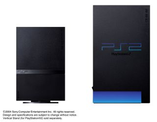 PS2 'phat' and PS2 Slim - get ready for the PS3 version of this press shot later this week...