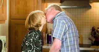 Gail Platt and Michael Rodwell in coronation Street