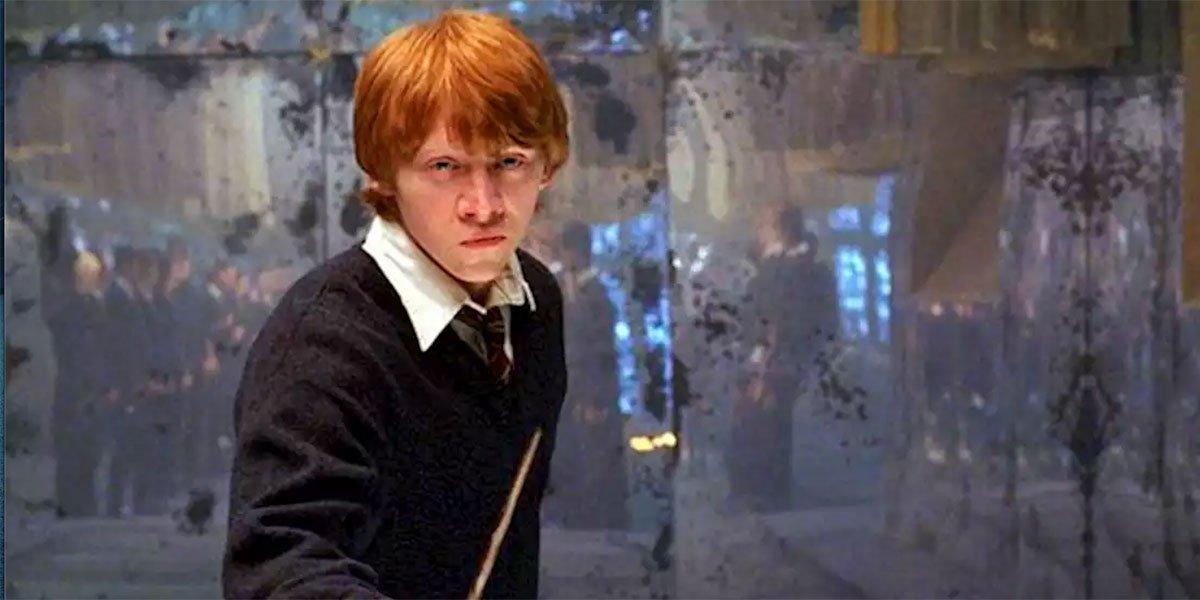 Rupert Grint in Harry Potter still courtesy of Warner Bros.