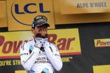 Christophe Riblon (Ag2r) overwhelmed by the enormity of his Alpe d'Huez stage win