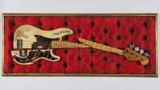 Paul Simonon's smashed Fender P-bass, as pictured on the cover of The Clash's 'London Calling'