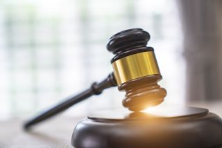 A gavel in a stock photo