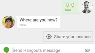 Google Hangouts smart suggestions