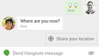Google Hangouts smart suggestions
