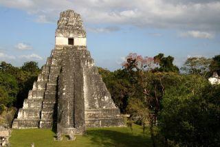 Jaguar temple in Tikal, Guatemala