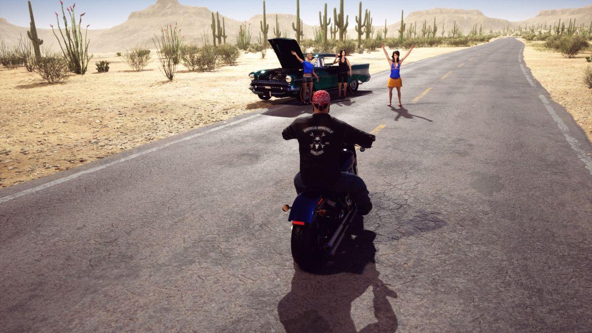 American Motorcycle Simulator promises bar room brawls, drunken darts and strippers