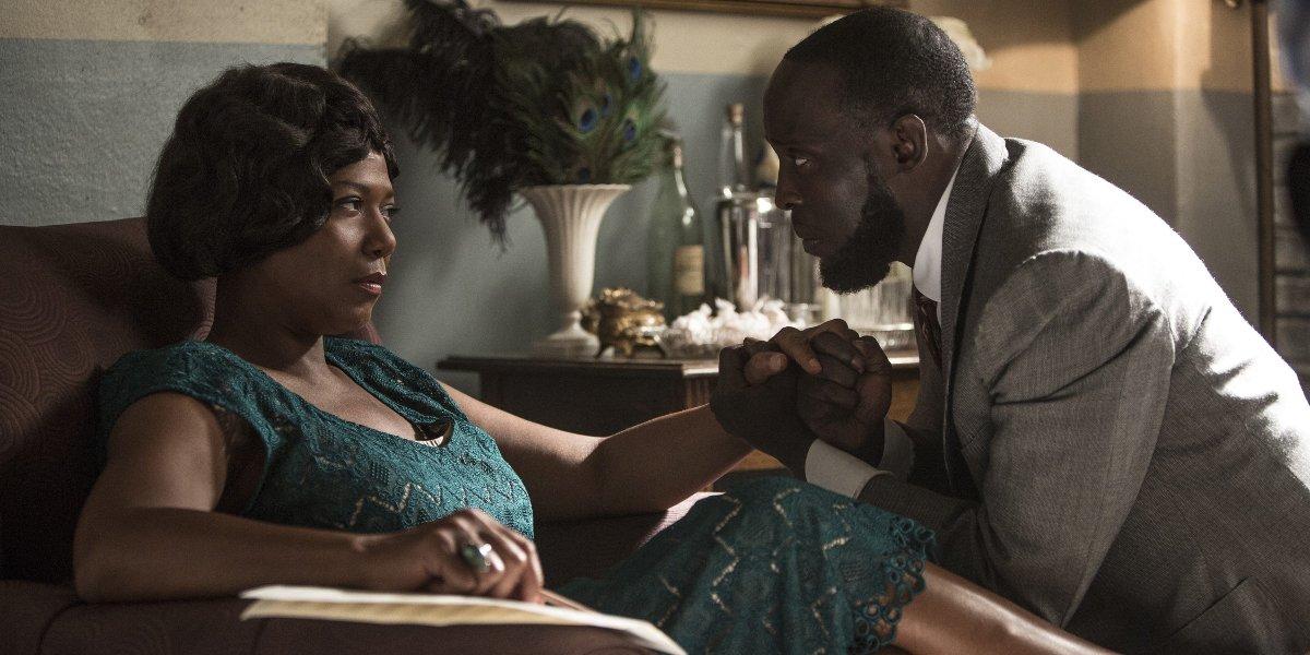 Queen Latifah and Michael K. Williams in Bessie