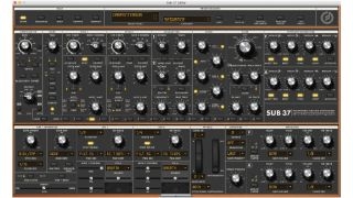 The Moog Sub 37 plugin editor looks better than a soft synth