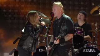 Iggy Pop onstage with Metallica