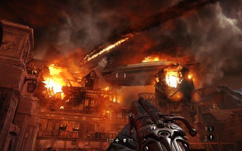 Wolfenstein Burning Zeppelin