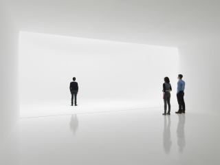 "The ""Infinity Environment,"" an installation art piece by Doug Wheeler on display at the Doug Zwirner Gallery in New York City. Credit: Tim Nighswander/IMAGING4ART, courtesy of David Zwirner, New York (c) 2012 Doug Wheeler"