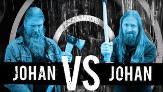 Johan Hegg and Johan Söderberg from Amon Amarth