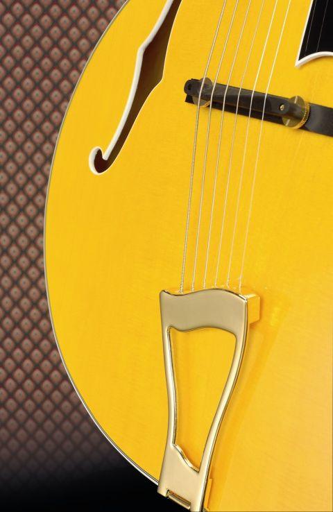 The JA-10 revives classic jazz guitar design.