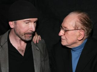 The Edge and Les Paul at the auction