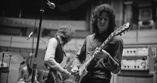 Peter Green (right) and bassist John McVie of Fleetwood Mac, rehearsing at the Royal Albert Hall, London, 22nd April 1969