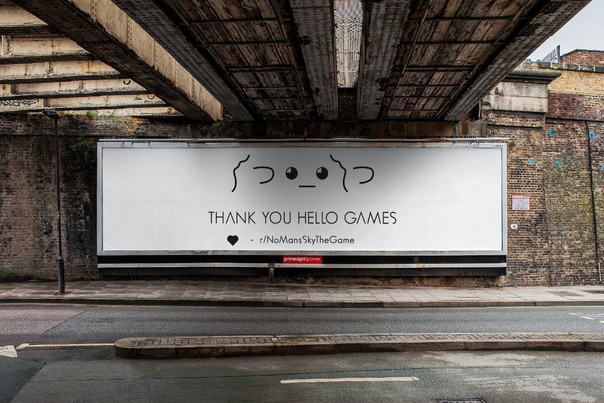 No Man's Sky fans are buying a billboard to say thank you to Hello Games | PC Gamer
