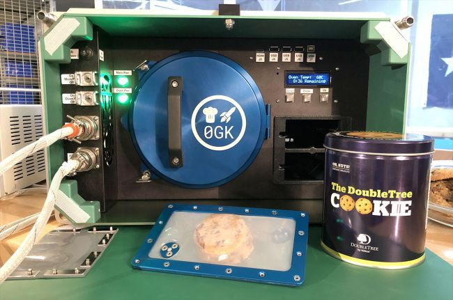 Zero G Kitchen and Nanoracks' oven will allow the astronauts on the International Space Station bake cookies and more.