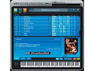 New sounds can be downloaded from within UVI Workstation.
