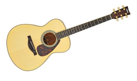 The LS16M has a spruce top and solid mahogany back and sides, plus a new bracing pattern and five-ply neck design