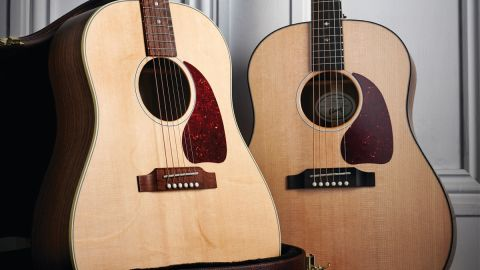 Gibson's Generation series comprises the G45 Standard [right] at $1,299 and the G45 Studio [left] at $999