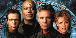 Christopher Judge, Amanda Tapping and Richard Dean Anderson on Stargate SG-1 DVD Box Art