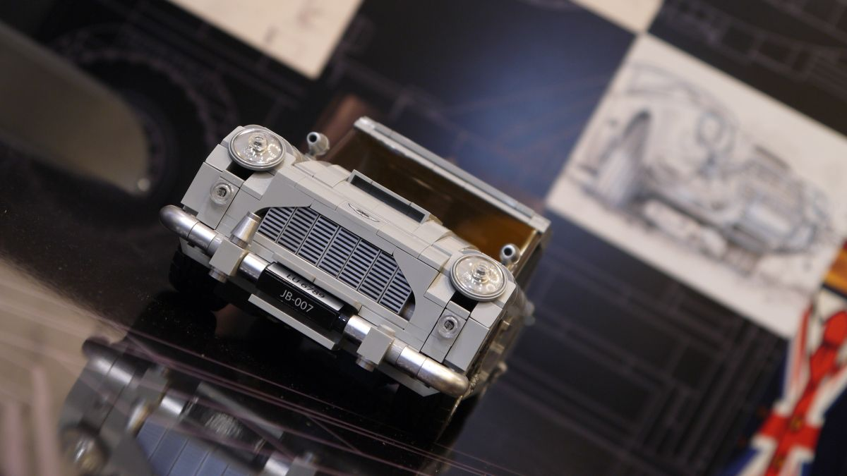 James Bond's Lego Aston Martin DB5 comes complete with working ejector seat
