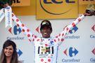 Daniel Teklehaimanot on stage six of the 2015 Tour de France