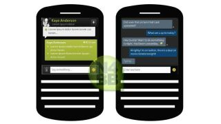 First look at BBM for BlackBerry 10 as images leak