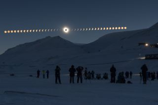 Solar Eclipse Sequence in Svalbard on March 20, 2015.