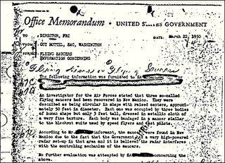 UFO Memo by Guy Hottel