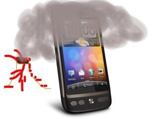 (Talented) artist's impression of what's happening with 3's HTC Desire