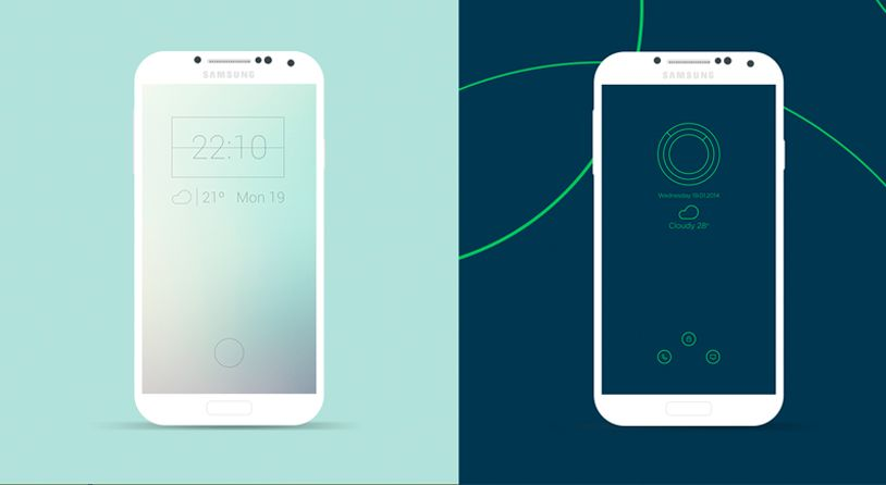 10 Minimalist Android Lockscreens To Download For Free Creative Bloq