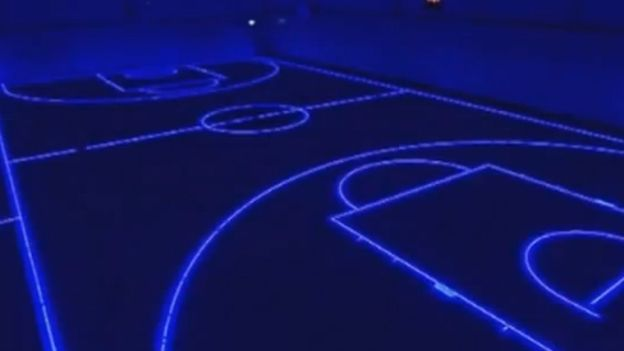 Led Gym Floor Lights Up For Different Sports T3