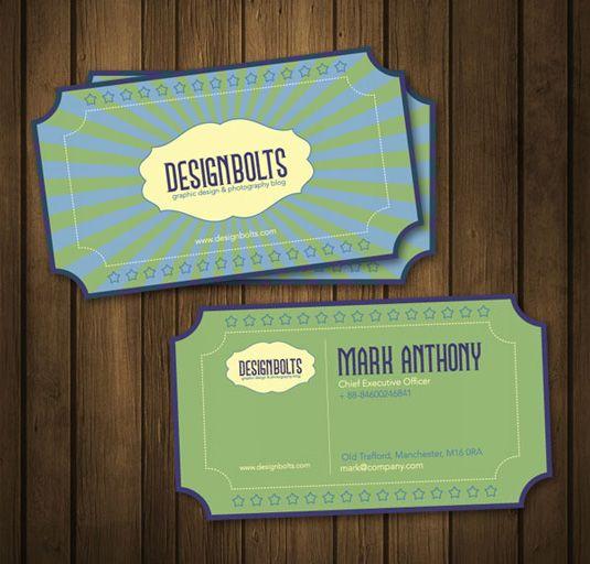 Free business card templates: retro