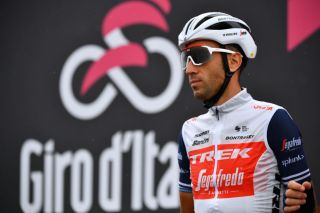 ROCCARASO ITALY OCTOBER 11 Start Vincenzo Nibali of Italy and Team Trek Segafredo during the 103rd Giro dItalia 2020 Stage 9 a 207km stage from San Salvo to Roccaraso Aremogna 1658m girodiitalia Giro on October 11 2020 in Roccaraso Italy Photo by Stuart FranklinGetty Images