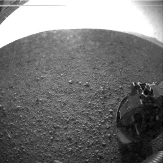 One of Curiosity's First Photographs on Mars