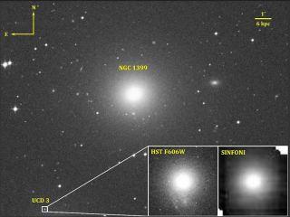 Giant elliptical galaxy NGC 1399