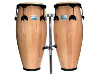 The congas feature an earth safe hardwood shell construction