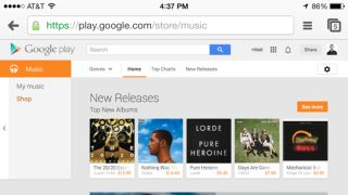 Google Play Music iOS app