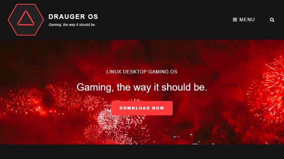 Website screenshot for Drauger OS