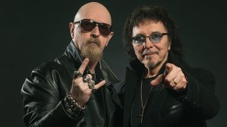 A shot of rob halford and tony iommi together