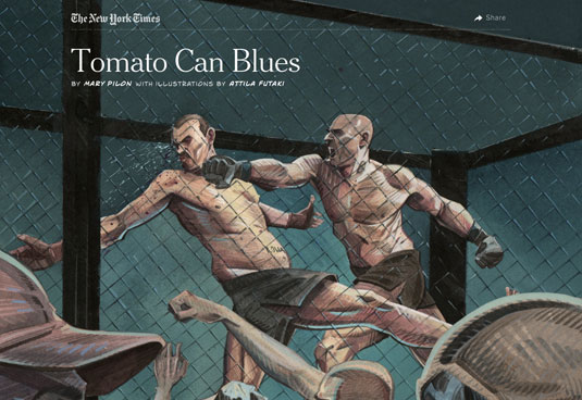 Examples of parallax scrolling websites: New York Times