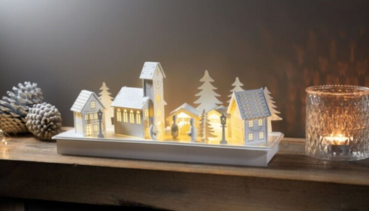 Lidl light up Christmas scene and nativity scene